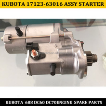 Manufacture of kubota 688 DC60 DC70 engine spare parts 17123-63016 assy starter for sale