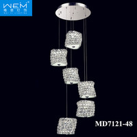 2016 Modern Ring Style Chandelier Crystal LED 48W Drop Hanging Light Large Pendant Lamps