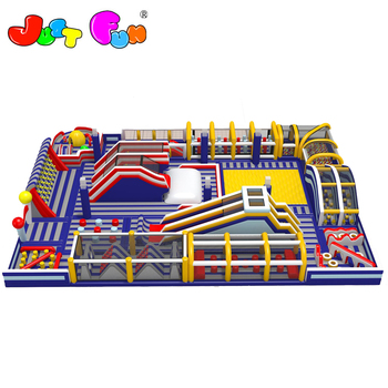 new design huge  inflatable obstacle course play park for kids n adults