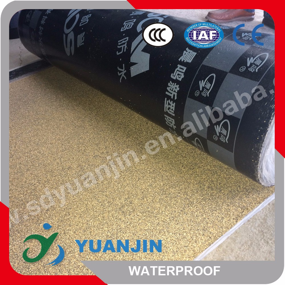 The SBS asphalt rubber waterproofing membrane in roof