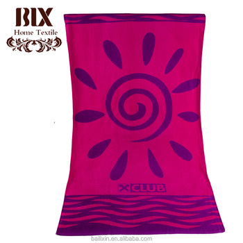 wholesale purple donut hawaii beach towel with cotton print