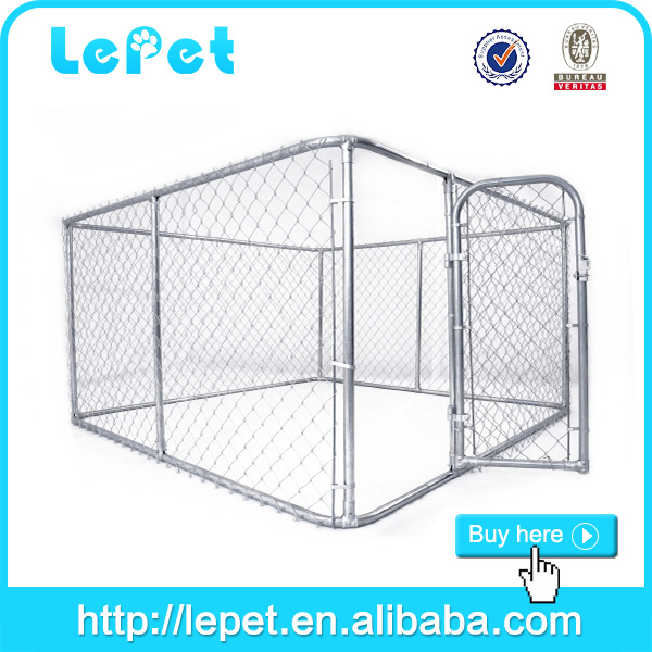 wholesale supply 10x10x6 foot classic galvanized outdoor dog kennel