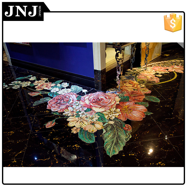 Indoor Design Mosaic Glass Wall Tile For Floor And Wall