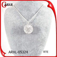 christmas promotion gift cheap crystal diamond necklace ball necklace