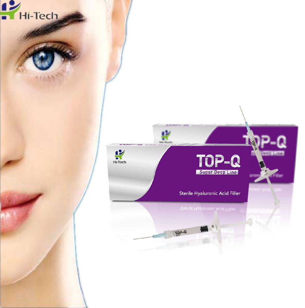 TOP-<strong>Q</strong> BDDE Cross Linked Injectable Hyaluronic Acid Dermal Filler For Plastic and Aesthetic Surgery <strong>1</strong> ml Super Deep