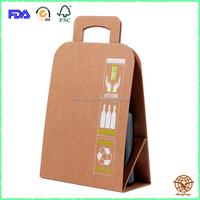 Customized Red Wine Packing Bag with Handle, Recyclable Material Packing Box