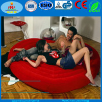 Hot Lovers Gifts Flocked Inflatable Heart Shape Air Bed