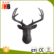 Custom animal head statue home wall decoration resin decorative statue deer head