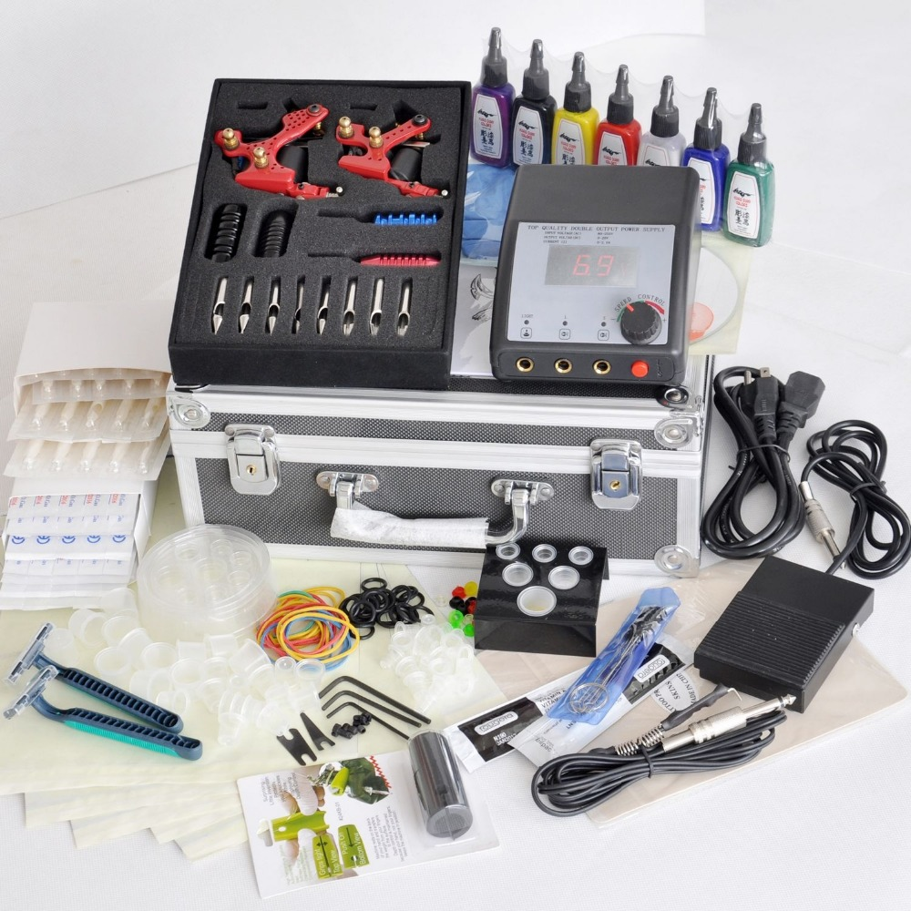 2017 Professional tattoo machine kits with High LCD Power equipment Supply set