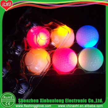 Logo printing flashing LED golf ball for paly
