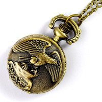 Fashion eagle pocket watch wholesale W-0207