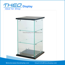 Best Mobile Small Frameless Jewelry Glass Showcase with Shelves