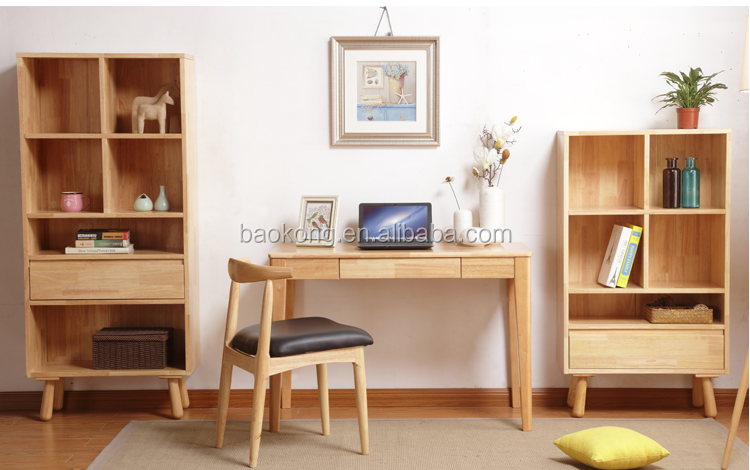 Solid Wood Study Room Laptop Study Table And Chair Set Home Furniture
