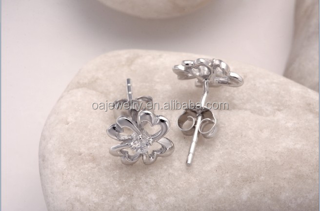 new fashion delicate wholesale 925 silver earring stud for girls