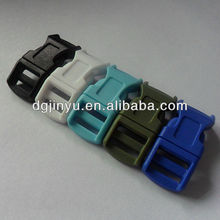Double Adjustable Colored Plastic Side Release Buckle