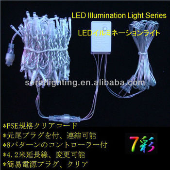 PSE Standard Transparent Cable Christmas Light String