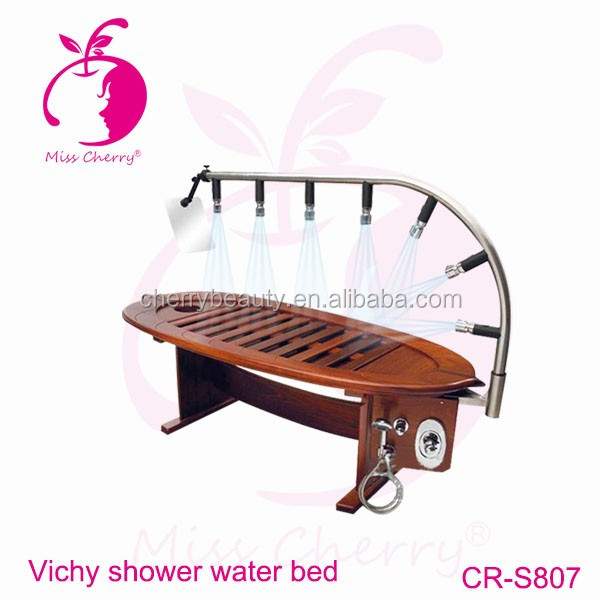 body massage shower spa capsule hydro massage with wooden table
