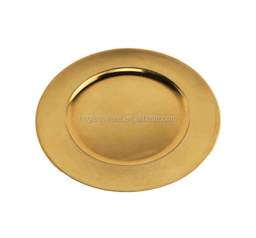 Gold Wholesale Underplate Wedding Silver Cheap Plastic Charger Plate