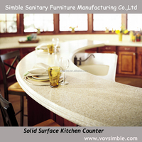 cheap solid surface kitchen cabinets countertop