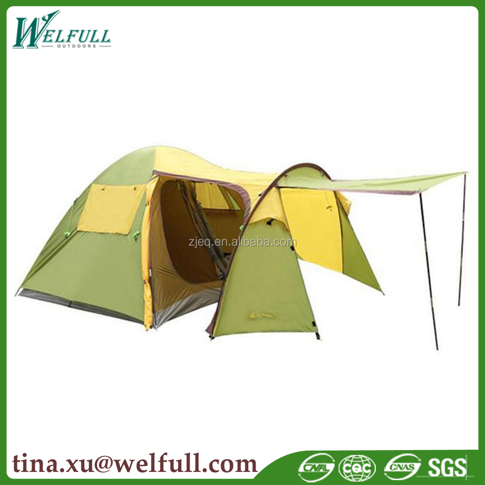 Outdoor 4 Person Family Canopy Camping Tent with Vestibule