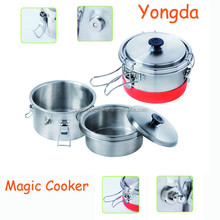 Stainless steel portable mini pressure cooker, camping cooker