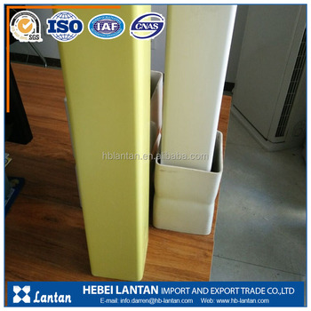 wholesale color plastic 4' pvc square rectangular pipe for Warning pile