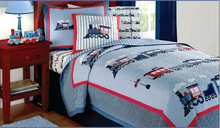 Train-Style Printed Baby Crib Bedding Set quilts for children
