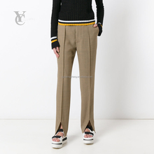 Formal shirts and pants combination trousers straight legged ladies evening trousers, high-waisted pants new bf photo pictures