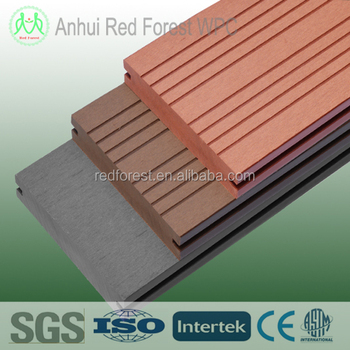 composite decking floor with factory price/ wpc outdoor flooring
