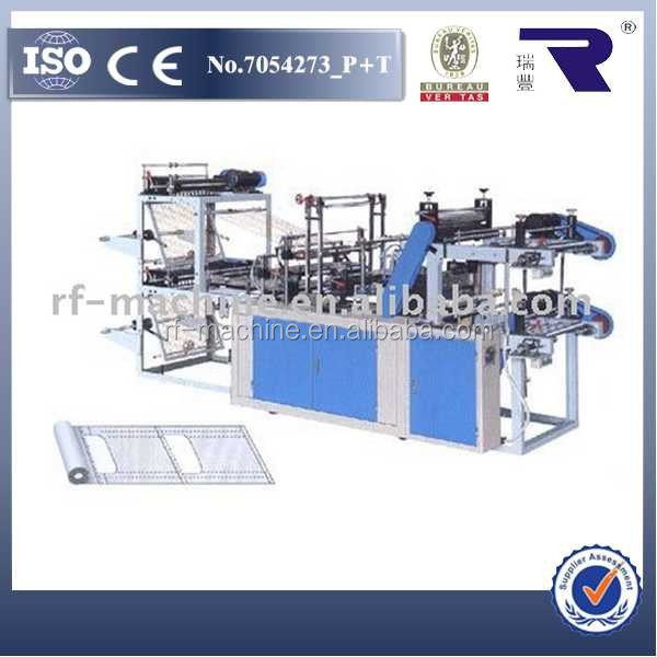 Automatic plastic rubbish bag making machine