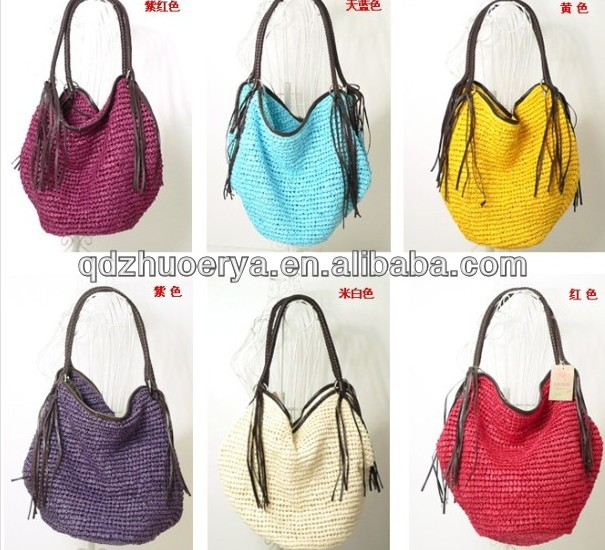 hot selling laby crochet straw bag/beach bag/tote bag