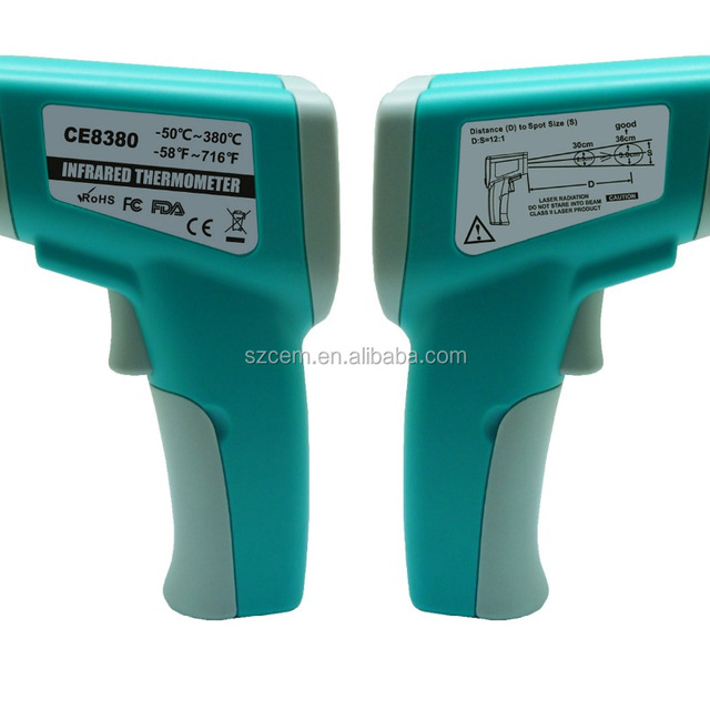 New model practical with cheap price CE8380H(-50-380 degree) industrial thermometer