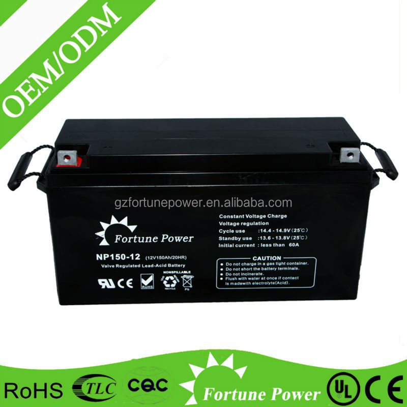 High quality 12v 150ah rechargeable GEL UPS battery