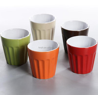 stock 12 oz no handle color ceramic embossed cup stock closeout
