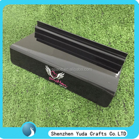 Branding shoe display stand black acrylic slatwall shoe display