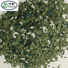 Hybrid Decorative Epoxy Color Flakes For Electrical Insulating Rubber Floor Paint
