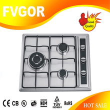 chinese kitchen appliances manufacturers stainless steel cooktop 3 burner built in type gas stove with lids JZ-BS53N