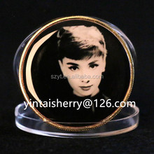 coins for star of Audrey Hepburn,Sexy Beauty Marilyn Monroe,Leonardo DiCaprio