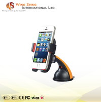 Standing adjustable clip black car holder for iphone