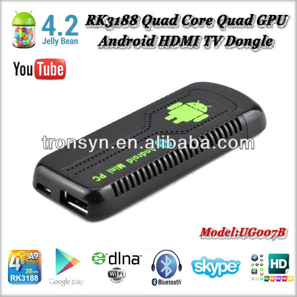 New Mini PC Android 4.2 RK3188 Cortex A9 Quad Core Android TV Dongle