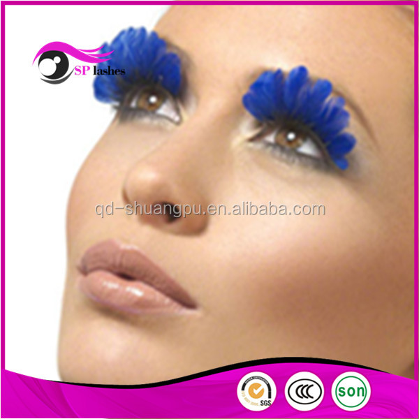 CHINA false eyelashes manufacturer fashion color individual feather eyelash synthetic hair false eyelashes