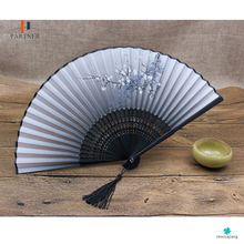 High quality advertising classical women's foreign trade shells hand silk fan/folding fan for collection or business gift