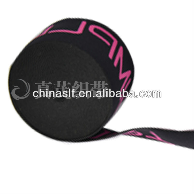 Customized patterned nylon elastic band webbing from factory