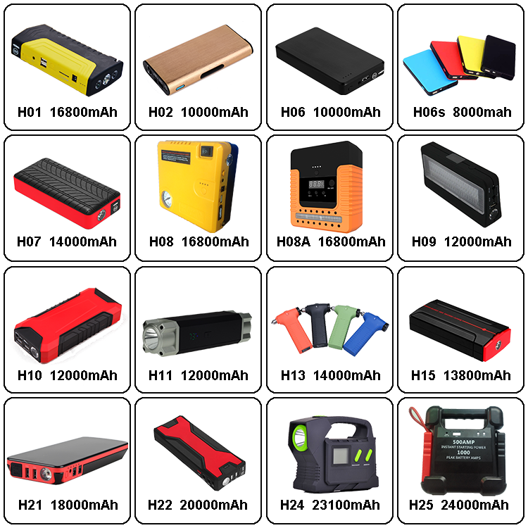 Best Selling Jump Starter 6000mAh Jump Starter Power Bank Multifunctional Car Battery Jump Starter