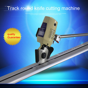 industrial round knife cloth Carpet Manual Lay End Cutter /Rail-mounted Carpet cutting machine