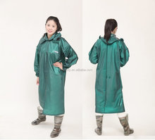 heavy duty long pvc ladies raincoat/raingear/rainsuit/rainwear/pvc raingear