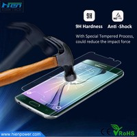 much smooth than plastic 9H hardness tempered glass screen protector for samsung S7