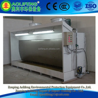 Water curtain paint spray booth with 2.2KW Pump