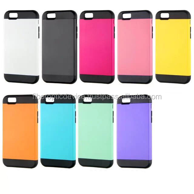 For iPhone 6 Hybrid Rubber Rugged Combo Matte Soft Hard Case Cover + Film