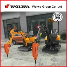 0.8ton China Mini trench digger with grabbing, breaker